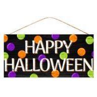 """12.5 """" L X 6 """" W Happy Halloween w / Multi Dots"""