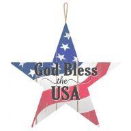"""""""God Bless the USA"""" Star Sign - Red / White / Blue / Black"""