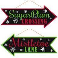 """16 """" L X 6.5 """" H Sugarplum / Mistletoe"""