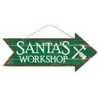 """16 """" L X 6.5 """" H Santa's Workshop Arrow Sign"""