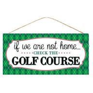 "12.5 "" L x 6 "" Check the Golf Course - TT Green / White / Black / Red"
