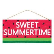 "12.5 "" L x 6 "" H Sweet Summertime Watermelon - Red / Green / Black / White"