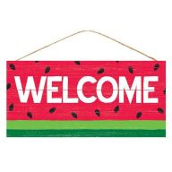 "12.5 "" L x 6 ' H Welcome Watermelon - Red / Green / Black / White"