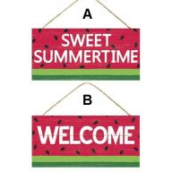 "12.5 "" L x 6 "" H Sweet Summertime/Welcome Watermelon ( 2 assorted )"