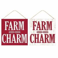 "10""Sq MDF ""Farm Charm"" Sign"