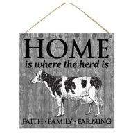 "10 "" sq "" Home Is Where The Herd Is "" - Gray / Black / White"