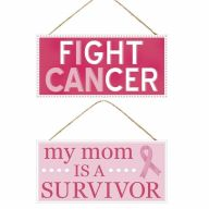 """12.5""""L X 6""""H MDF Breast Cancer Sign"""