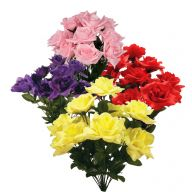Assorted X14 Rose Bush - Red / Pink / Yellow / Purple (3 Each  = 12 Pieces)