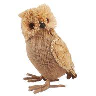"11 "" Burlap Standing Owl"