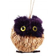 Grass Owl Ornament W/ Jute Hanger