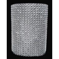 "Diamond ribbon 5 Yards x 4.5 "" - Silver"