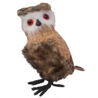 """11 """" Grass Feather Standing Owl"""