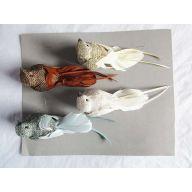 "6 "" Assorted Birds ( Gold / White / Smoke / Grey )"