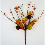 "10.25 "" Pip Berry Pumpkin Pick Branch - Orange"