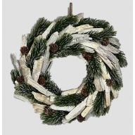 Wreath W/Glitter Pine/Cones 13.25X13.25X2.75