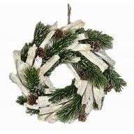 Wreath W/Glitter Pine/Cones 9.5X9.5X2.5