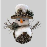 Snowman W/Cones 9.75X6X10.5