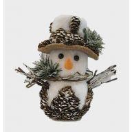Snowman W/Cones 8.25X4.75X7.5