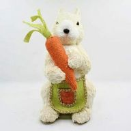 Standing Bunny W/Carrot/Apron 7.87X6.69X11.81