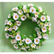 Wreath W/Ribbon 11.81X11.81X2.76 - Green / White