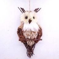 """10.5"""" X 5"""" Natural Owl"""