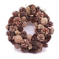 "13"" X 13"" X 3.25"" Pinecone Wreath"