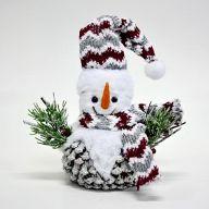 """14"""" Snowman w/ Scarf 8.75"""" X 5.25"""" X 10"""""""