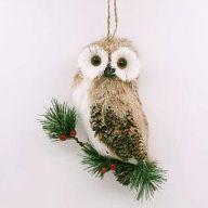 """3.5"""" X 2"""" X 8"""" Hanging Owl w/ Berry"""