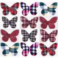 "5 X 3.25 "" Plaid Fabric Asst Butterflies"