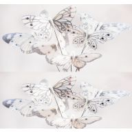 "4 "" Silver White Feather Butterfly ( Bx 12 )"
