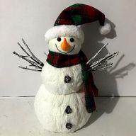 """10.25"""" X 6.75"""" X 13.75"""" Snowman"""