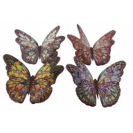 "4.5 "" Assorted paper Butterfly W Glue Dot ( Bx 36 )"