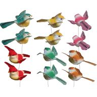 "3.5 "" Feather Bird Pick Assortment"