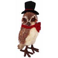 """Grass Owl W Top Hat 6 X 4.25 X 9.75 """""""
