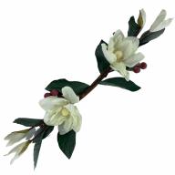 """23"""" Pongee Magnolia Swag - Cream"""