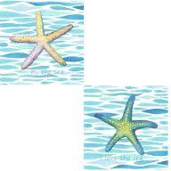 Starfish Canvas Art ( 2 assorted )