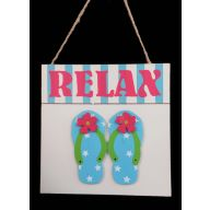 3D Square Flip Flop Plaque