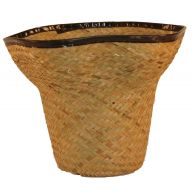 Hat Pot Palm Leaf Basket