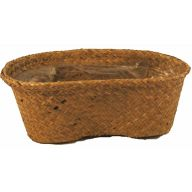 Palm Peanut Basket 15.5 X 8.25 X 6.5 ""
