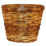 "10"" Split Rattan Pot Basket w/ Liner (HOLDS 8"" POT)"