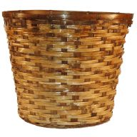 "12"" Split Rattan Pot Basket w/ Liner (HOLDS 10"" POT)"