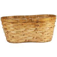Rattan Peanut Basket w/hard liner