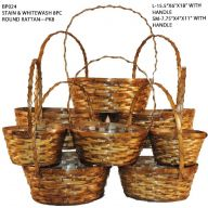 S/8 Rattan Basket w/hard liners