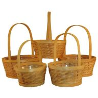 S / 5 Round Wood Nantucket Basket