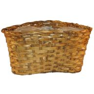 3 Pot Split Rattan Basket-Stained