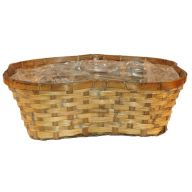 4 Pot Split Rattan Basket