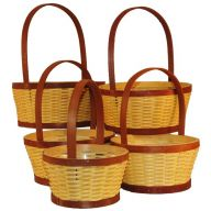 S / 5 Wood Basket