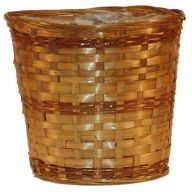 "8"" Bamboo Basket w/ Liner (HOLDS 6"" POT)"