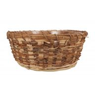Single Round Vine Basket W/ Hard Liner - Natural