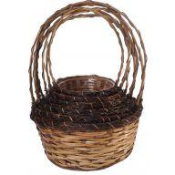 7 Piece Round Vine Basket